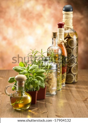 stock image of the row of ingredients - stock photo