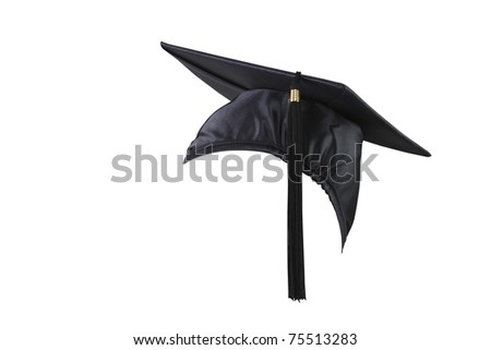 stock image of the side view of graduation cap - stock photo