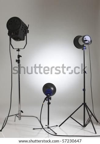 stock image of the studio light - stock photo