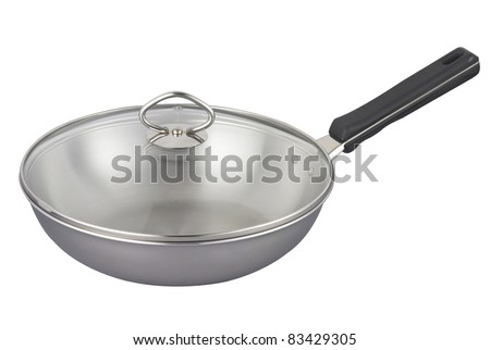 stock image of the wok with clipping path