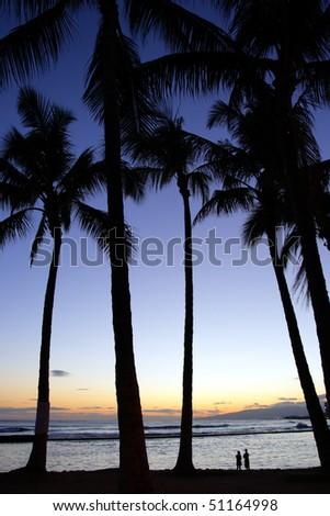 Stock image of Waikiki Beach, Honolulu, Oahu, Hawaii - stock photo