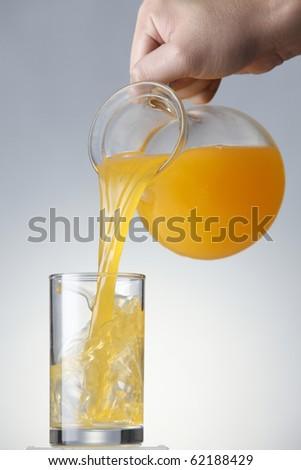 stock imageof the orange juice - stock photo