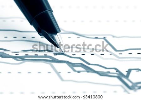 Stock index dynamics. - stock photo