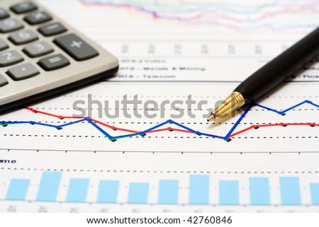 Stock index dynamics monitoring. - stock photo