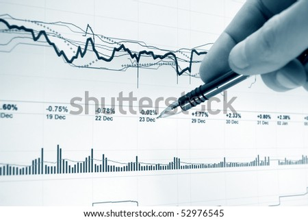 Stock index monitoring. - stock photo