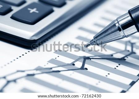 Stock index monitoring - stock photo