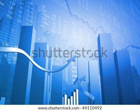 Stock Indicators with 3D Up Arrows