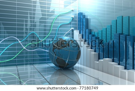 Stock market abstract background - stock photo
