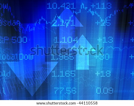 Stock Market Abstract in Blue - stock photo