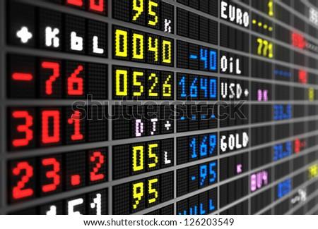 Stock market board - stock photo