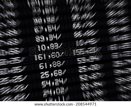 stock market board - stock photo