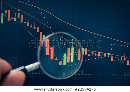 Stock market chart. Business graph background. Forex trading business - stock photo