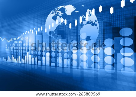 stock market chart , Financial background  - stock photo