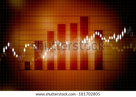 Stock Market Chart, graph - stock photo