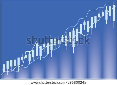 stock market chart , illustration