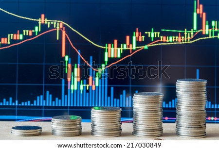 stock Market Chart with currency - stock photo