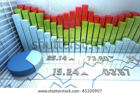 Stock market colorful abstract background - stock photo