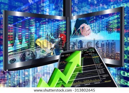 stock market concept ,stock market background - stock photo