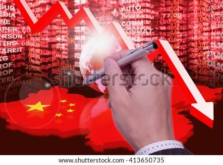 stock market crash - stock photo