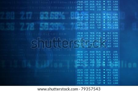 Stock Market Data Matrix - stock photo