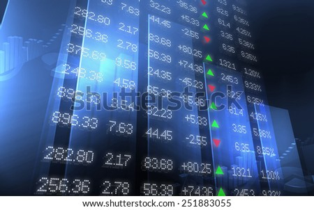 Stock Market Data on 3D Wall