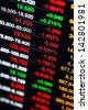 Stock market data on display - stock photo