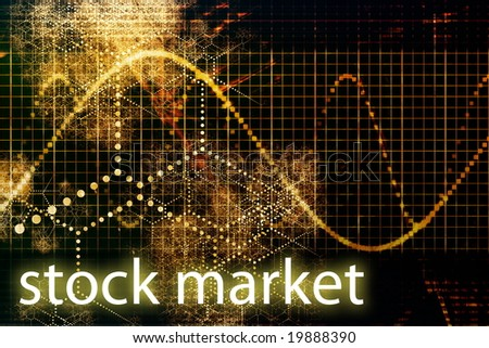 Stock Market Declining and Weakening Abstract Background