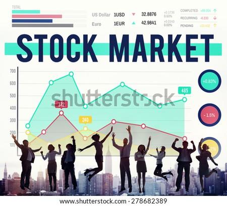 Stock Market Economy Finance Forex Shares Concept - stock photo