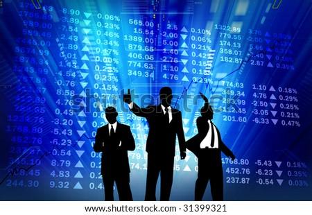 stock market go up - stock photo