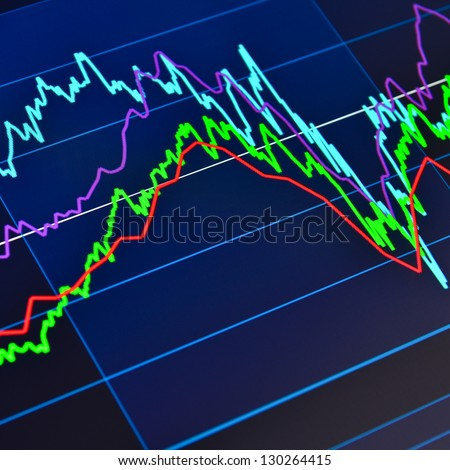 Stock market graph on a tablet computer - stock photo