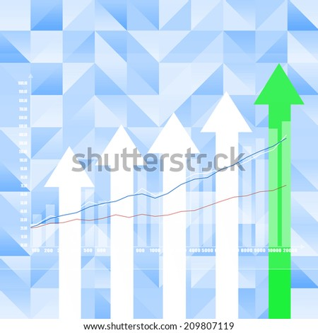Stock Market Graph on abstract  background
