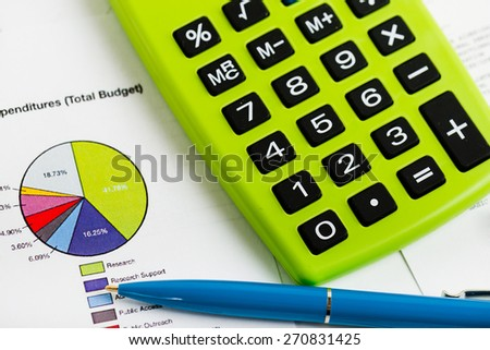 Stock market graphs and charts - stock photo