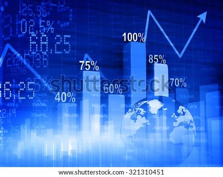 Stock market graphs, business chart  - stock photo