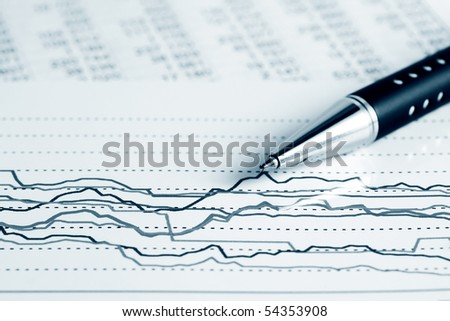 Stock market graphs monitoring. - stock photo