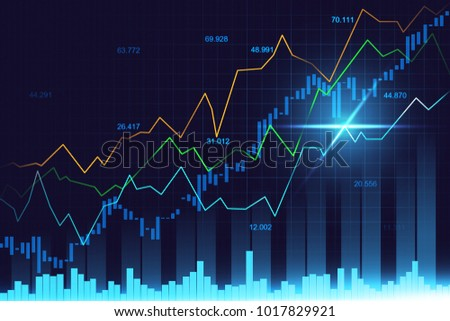 stock market forex trading graph graphic stock illustration