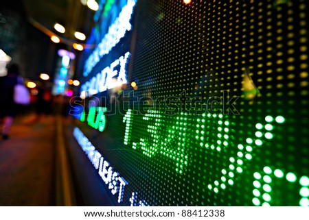 stock market price digital display abstract