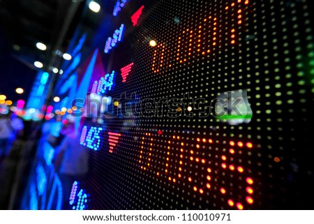 stock market price display - stock photo