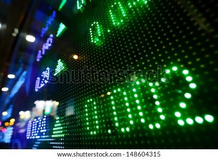 Stock market price increase - stock photo