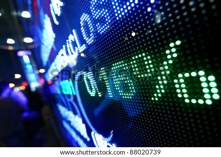 stock market pricing abstract - stock photo