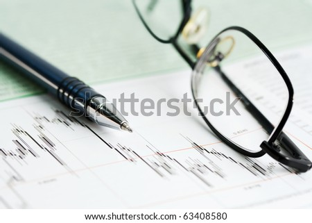 Stock market reports. - stock photo