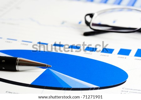 Stock market reports - stock photo