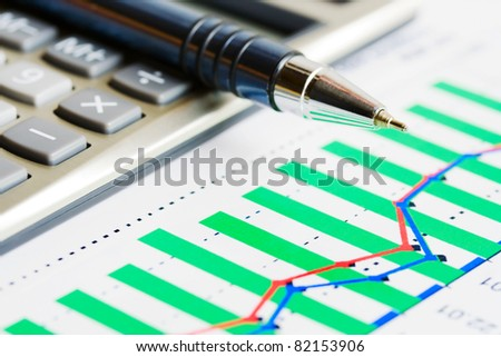 Stock market reports - stock photo