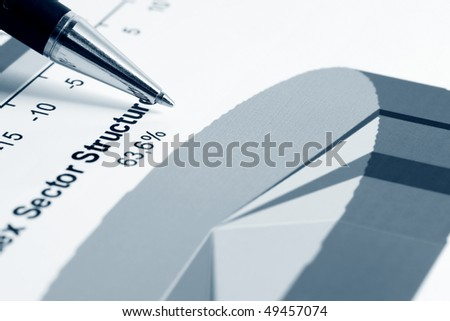 Stock market sector structure. - stock photo