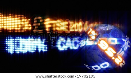 Stock Market Ticker - stock photo