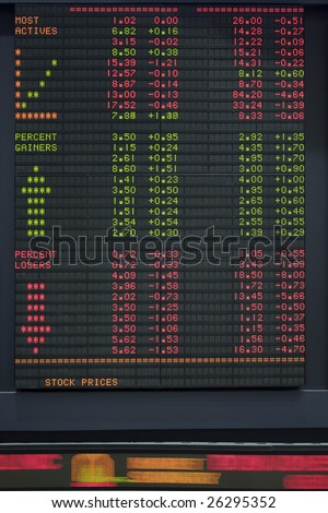 Stock Market Ticker Board - stock photo
