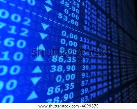 stock numbers - stock photo