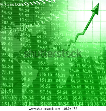 Stock numbers showing increased success - stock photo