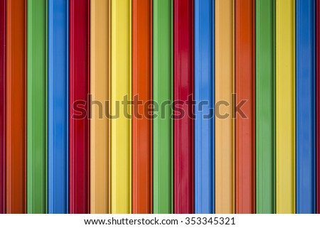 stock of colorful metal roll-up doors
