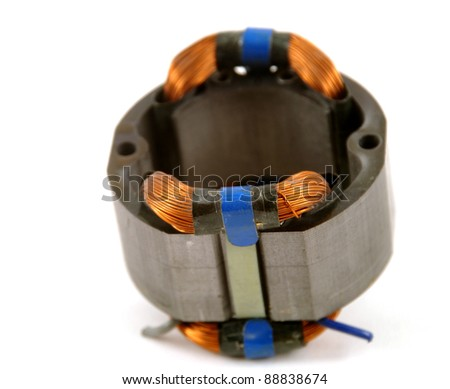 stock pcitures or parts of a motor and a rotor - stock photo