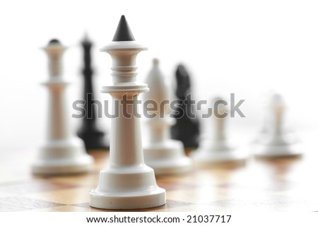 Stock photo: an image of chess: white king